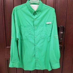 Columbia PFG Mens Shirt 2XL Long Sleeve Roll Tab